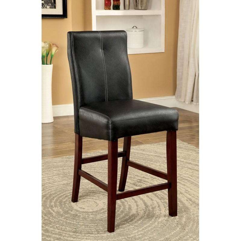 Wolfson Contemporary Faux Leather Upholstered Counter Height Chairs (Set of 2)