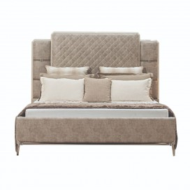 ACME Kordal California King Bed - 27194CK - Vintage Beige PU