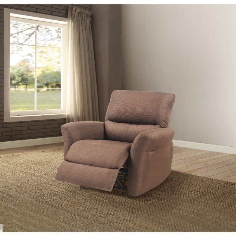 ACME Alyssum Recliner - 53457 - Chocolate Linen