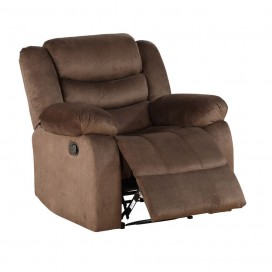 ACME Angelina Recliner - 55047 - Dark Brown Fabric