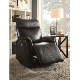 ACME Riso Rocker Recliner - 59435 - Black Leather-Aire