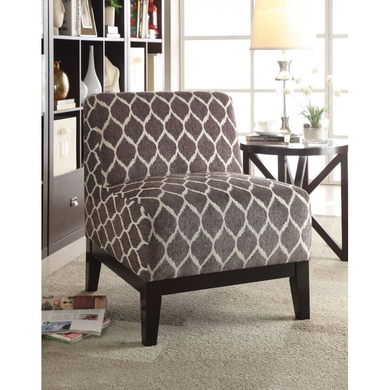 ACME Hinte Accent Chair - 59500 - Brown Chenille