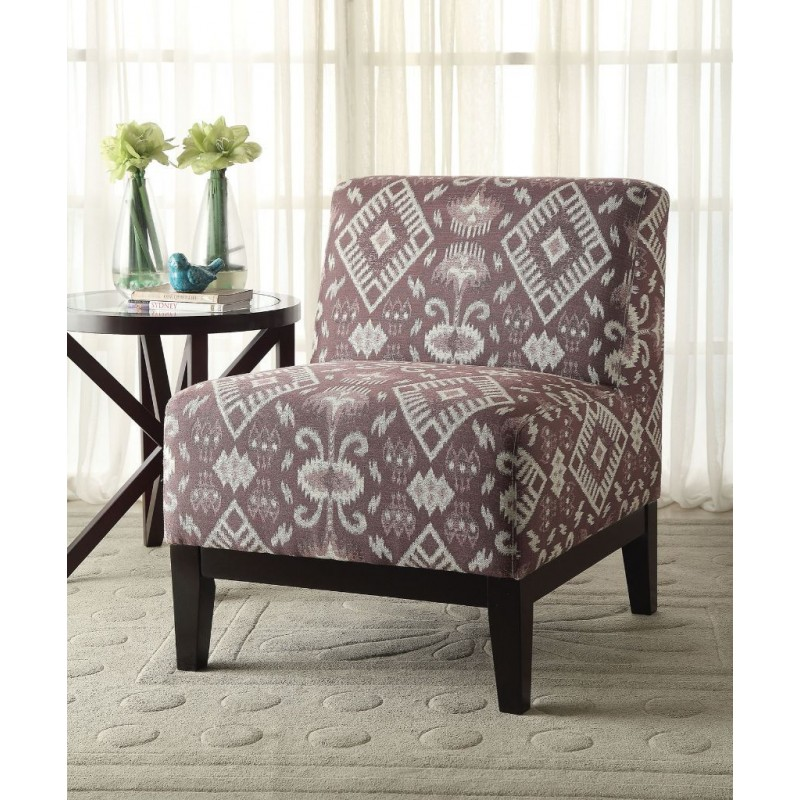 ACME Hinte Accent Chair - 59503 - Pattern Fabric