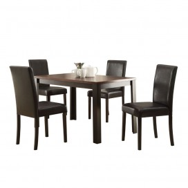 ACME Kylan 5Pc Pack Dining Set - 71800 - Dark Cherry & Espresso