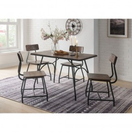 ACME Paras 5Pc Pk Dining Set - 72450 - Walnut