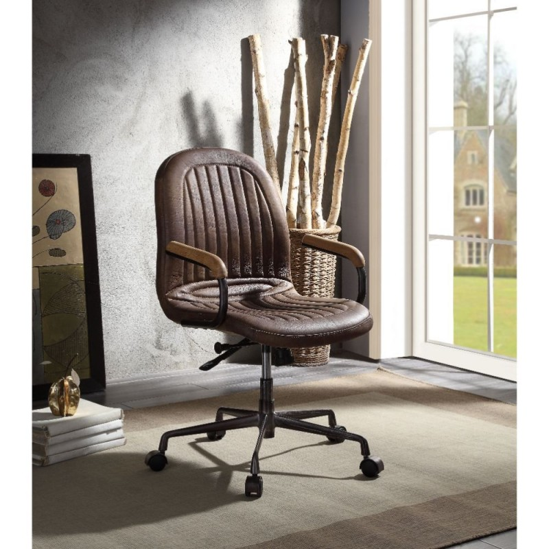 ACME Acis Executive Office Chair - 92559 - Vintage Chocolate Top Grain Leather