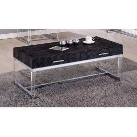 Dundy Contemporary 2-Drawer Coffee Table in Black