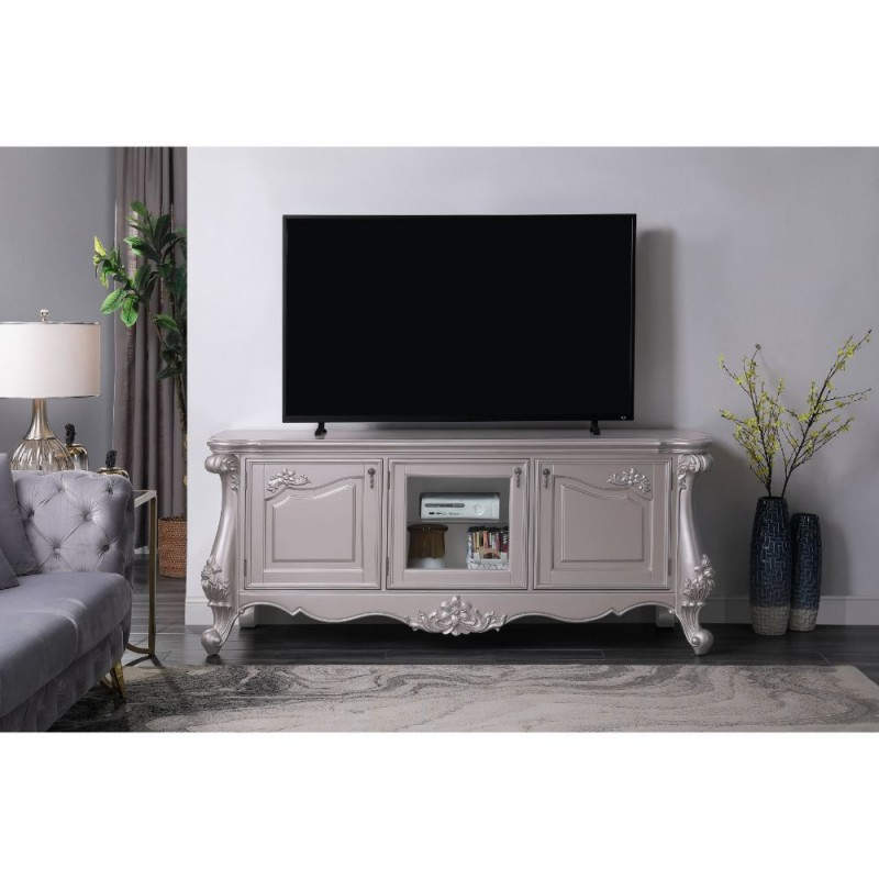 ACME Bently TV Stand - 91663 - Vintage, Traditional - Wood (), Poly-Resin - Champagne